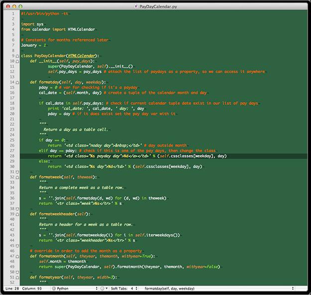 Python Web Calendar