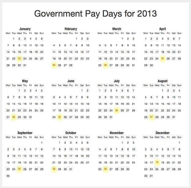 Python Payday Web Calendar
